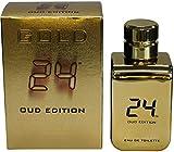 24 Gold Oud Edition by ScentStory Eau De Toilette Concentree Spray (Unisex) 3.4 oz / 100 ml (Men)