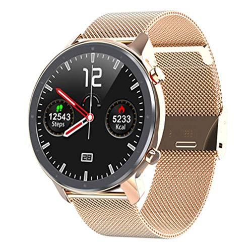 WEINANA Reloj inteligente para hombre EKG 2020, pantalla Full HD, IP68, resistente al agua, monitor de pulso, 60 días en espera, A