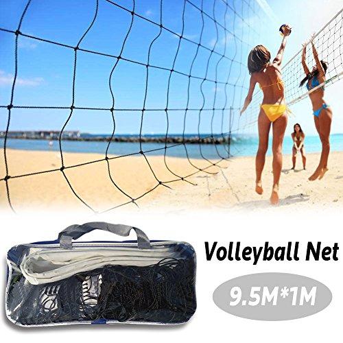 ZYJANO Net Volleyball, Volleyball Netzwerk Laptop Ersatz 9.5m * 1m Folding Ausbildung geeignet für Outdoor-Wettbewerb Innerhalb von 2