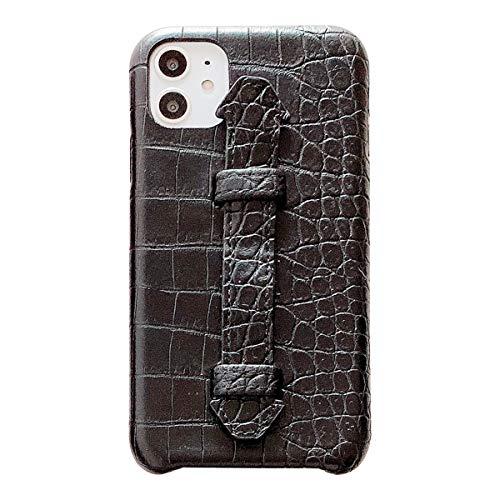Suhctup Coque Compatible pour iPhone 11 Pro Rétro PU Cuir Cover Housse avec Fonction de Support [ 3D Emboss Crocodile Motif Texture Leather ] Ultra Fi
