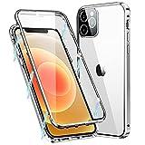 MIMGOAL Funda para iPhone 11 Pro MAX, Carcasa Adsorción Magnética Funda con Protector de Cámara Protección de 360 Grados Transparente Case for Apple iPhone 11 Pro MAX 6,5'', Plata