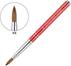 KEMEISI New #8#10#12#14#16 Kolinsky Sable Brush Acrylic Nail Art Brush Two Lines Red..