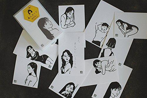 どれもそのまま飾っておきたくなるような傑作で、オシャレなプレゼントに添えるメッセージカードとしても最適です。10種×各10枚=計100枚セットなので、さまざまなタイプが有り、クールでハイセンスなデザインは和洋、どんなタイプのプレゼントにも似合います。