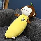 XIAN Llamamiento Bonita Caricatura Sonrisa Zanahoria Conejo Juguete Lindo simulación Banana Mono Almohada muñecas rellenas Suaves Juguetes para niños Regalo 65cm b hailing (Color : D, Size : 65cm)