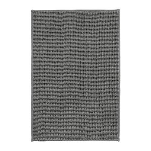 Ikea BADAREN Badematte Mikrofaser 40 x 60 cm luxuriös weich 2 Farben (grau)