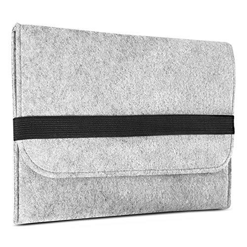 ROYALZ Hülle für Huawei MediaPad T5 10 Tasche (10.1 Zoll Tablet) Schutzhülle Sleeve Design Cover Filztasche Hülle, Farbe:Grau
