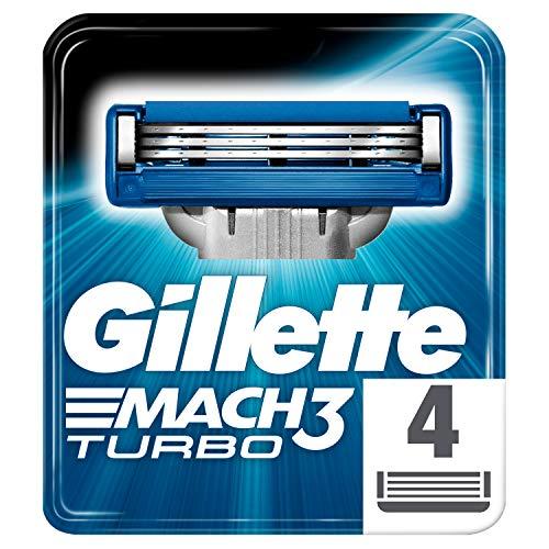 Gillette Mach3 Turbo Recambio de Maquinilla de Afeitar para Hombre - 4Recambios