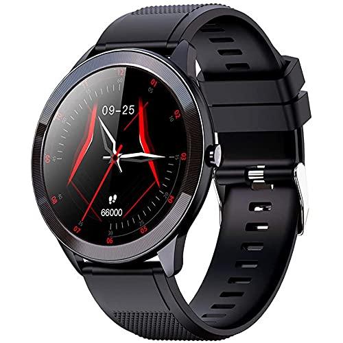 GEQWE Reloj Inteligente con Pantalla táctil de 1,28', Mujeres Hombres, rastreadores de Actividad física, rastreadores de Actividad con Monitor de frecuencia cardíaca notificaciones de Mensajes