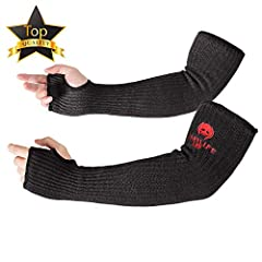 Premium Kevlar Cut Resistant Sleeves:Uses the safety kevlar material same with bulletproof clothing. After completed seamless weaving, we deliberately added glass fibers which are good at cut-proof properties to increase its cut-stab-proof performanc...