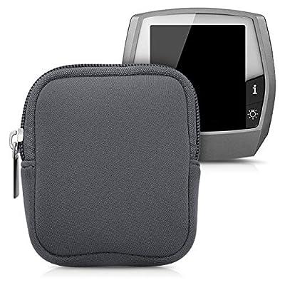 kwmobile Tasche kompatibel mit Bosch Intuvia - E-Bike Computer Neopren Hülle - Schutztasche Grau