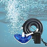 HAIT Aspirador de Piscina Cabeza Triángulo, Aspirador de Piscina Manual Pequeña con Poste Telescópico: 3M, Tubería de Aguas Residuales: 7,5 m