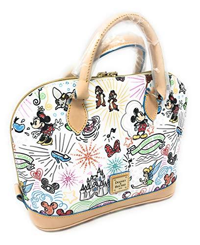 Disney Dooney & Bourke - Bolso con cremallera y hombro, color blanco
