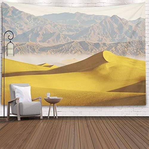 Tapiz para Colgar en la Pared, Tapiz de Pared, Arte para el hogar D & Eacute; Cor Sand Dunes Death Valley con tapices de Fondo para el Dormitorio de la Sala de Estar, Azul Rojo