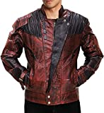 Fashion_First - Chaqueta - para hombre Star Lord Real Leather Jacket L