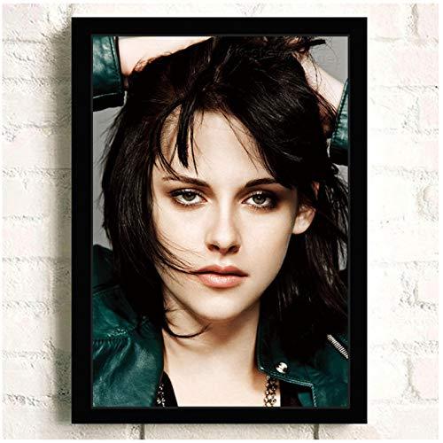 SDGW Kristen Stewart Movie HD Star Wall Art Decoración para El Hogar Lienzo Pintura Arte Decoración Regalo Cafe Bar Room Poster-60X80Cm Sin Marco
