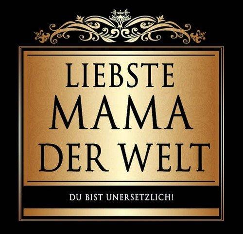 Udo Schmidt Aufkleber Flaschenetikett Etikett Liebste Mama der Welt schwarz gold elegant