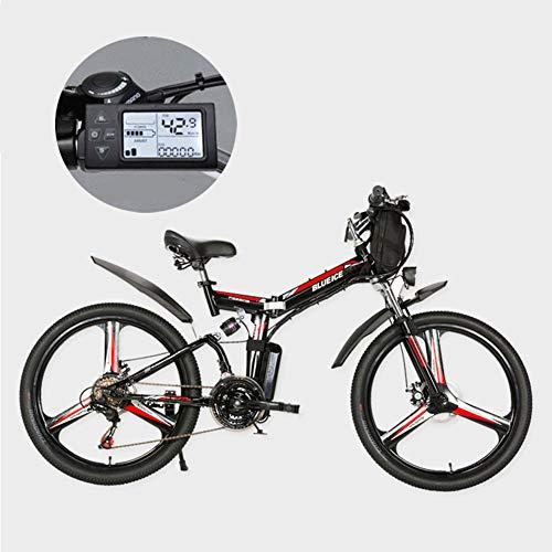 Electric Mountain Bikes, 24/26 Inch 21 Speed verwisselbare Lithium batterij Mountain elektrische vouwfiets met Opknoping Bag Drie Riding Modes geschikt voor mannen en vrouwen