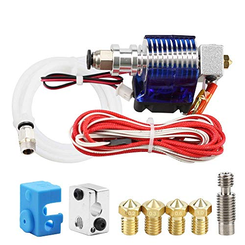 IMWANN ZXG 3D Printer J-Head With Single Cooling Fan For 3.0Mm 3D V6 Bowden Filament Wade Extruder 0.2Mm/0.3Mm/0.4Mm Nozzle