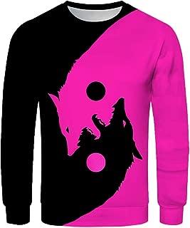 HebeTop Mens Geek Psychedelic Splash-Ink Printed Slim Fit Long Sleeve Shirts