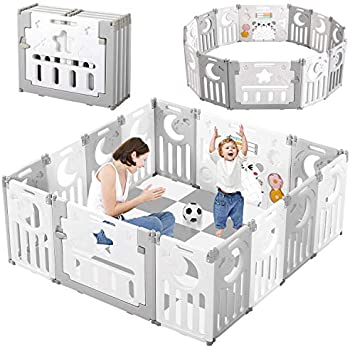 Dripex Upgrade Foldable Kids Activity Centre Safety Play Yard