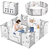 Baby Playpen, Dripex Upgrade Foldable Kids...