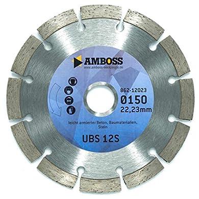 """Foto di Amboss UBS 12S """"Standard"""" - Disco da taglio diamantato, per cemento/pietra, diametro & foro a scelta, altezza segmento: 10 mm (sinterizzato), Ø 125 mm x 22,2 mm, 1"""