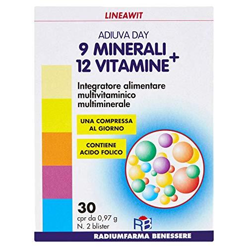 Lineawit 60004 Adiuva Day Integratore alimentare multivitaminico multiminerale - 30 cpr - 29,10 g