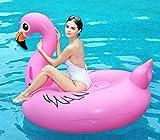 Flamenco Inflable Flotador Gigante 170cm, Hinchables Piscina Juguetes Colchoneta Acuáticos Divertidos Ummer Unicornio Beach Swim Ring Fiesta Balsa con Válvulas Rápidas para Niños Adultos