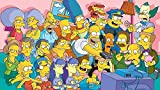 CHDBB 1000 Piezas de Rompecabezas para Adultos Póster de la Familia Simpsons Juego de Rompecabezas para niños para la Familia |Juego Educativo