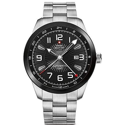 Swiss Military by Chrono Reloj para Hombre Analógico Automático con Brazalete Acero Inoxidable SMA34070.01