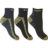 6 Paar Herren Socken Ultimativ Arbeit Sport Socken mit verstärkter Ferse & Zehen Größe 39-45
