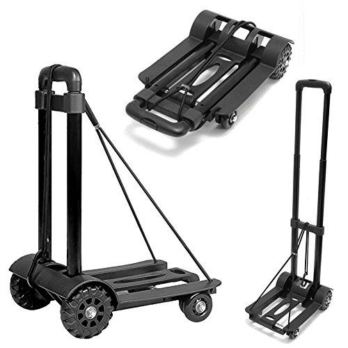 キャリーカート ハンドキャリー 折りたたみ式 軽量で 丈夫 しっかりとした車輪 3段階ハンドル調整 耐荷重50kg