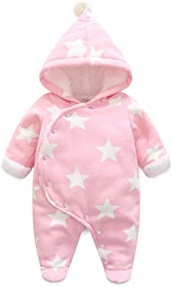 Fairy Baby Newborn Boys Girls Romper Outwear Winter Thick Warm Hood Jumpsuit