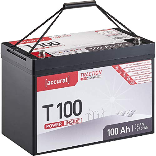 Accurat Traction 12V 100Ah LiFePO4 Lithium-Eisenphosphat 12,8V Versorgungs-Batterie T100 LFP