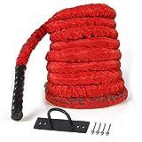 CCLIFE Cuerda de Batalla Entrenamiento Battle Rope Cuerda Batalla Crossfit 9m 12m 15m...