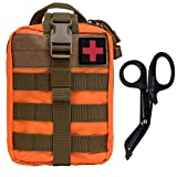 Krisvie Rip-Away EMT Pouch Pouch Molle Pouch First Aid Kit Utility Pouch 1000D Nylon (Orange)