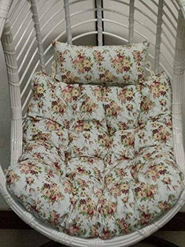 JYHJ Cojines gruesos para silla de columpio, de limpieza, desmontables, para colgar nido de pájaros, cojines para silla de jardín, cojines de mimbre (no incluyen sillas para colgar) - h 90 x 100 cm
