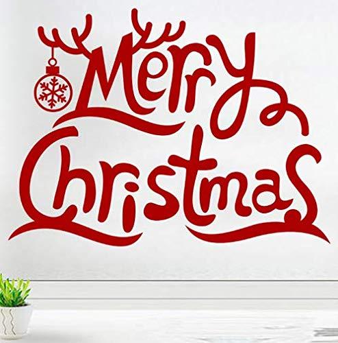 wandtattoo Weihnachten Glückwunsch Kinderwaren Aufkleber Schaufenster Home Decoration Neujahrsdekoration Wandaufkleber Vinyl Wandbild
