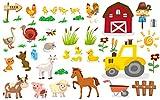 EmmiJules Wandtattoo Bauernhof für das Kinderzimmer (70cm
