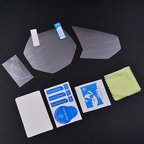Nouveau Style moto Tableau de bord Instrument Compteur de vitesse Cluster Scratch film de protection Film de protection s'adapter pour Yamaha Yzf-r3/Mt-03 2015–2017