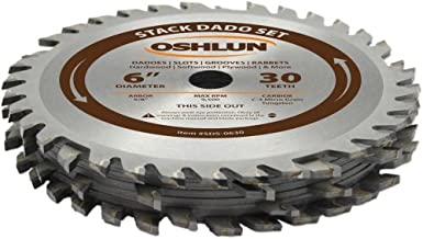 Oshlun SDS-0630 6-Inch 30 Tooth Stack Dado Set with 5/8-Inch Arbor