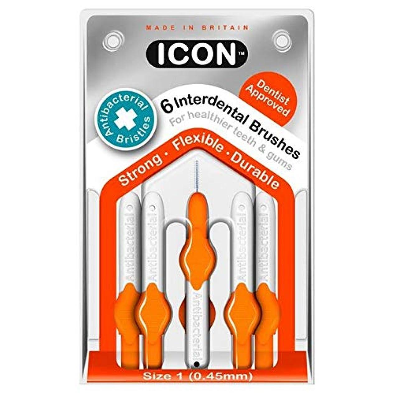 お金ロボット伝染性の[Icon ] アイコンの歯間には、パックあたり0.45ミリメートル6ブラシ - Icon Interdental Brushes 0.45mm 6 per pack [並行輸入品]