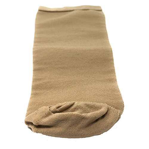 "Truform-OTC 0832-M Below knee bk stump shrinker, limb compression with ventilation, amputee care, Beige, Medium (12-16"" Calf)"