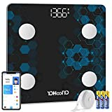 Bathroom Body Fat Scale Smart Bluetooth Wireless Digital Scales for Body Weight Body Composition Analyzer Sync Data with Fitness App by YOHOOLYO