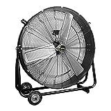 OEMTOOLS 36 Inch High-Velocity Indoor Tilt Barrel, New Model Commercial Fan, Black