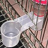 quanjucheer Alimentador automático de agua para pájaros y loros, práctico cuenco de plástico para jaula de 4,1 x 4,9 cm (transparente)