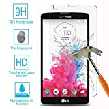 Tonvizern Compatible for LG G Vista VS880 Real Tempered Glass Screen Protector Guard,Bubble-free Anti-Scratch Ultra Clear 9H Premium Tempered Glass 0.26mm HD Screen Protector Film