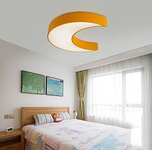 Lily's-uk Love Creative Moon Ladies Luminaire pour plafond pour enfant Boys & Grooming Chambre pour chambre à coucher Lumière Simple Modern Kindergarten Lights - Yellow