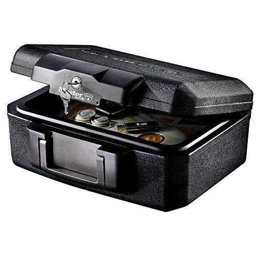 MASTER LOCK Sicherheitskassette [Feuerfest] [Small] [Schlüsselschloss] L1200 – Für Ausweise, kleine Elektrogeräte, Juwelen usw.
