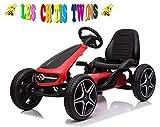 Kart a pedal Mercedes Benz, color rojo, para niños de 3 a 8 años, con pedales para niños de 3 a 8 años, licencia de Mercedes-Benz